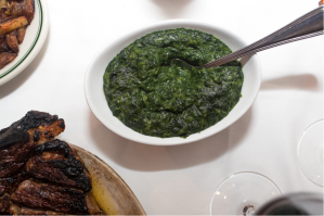 Cream-less Creamed Spinach Photo Courtesy of: Benjamin's Steaklhouse in White Plains, NY