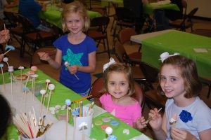 Resurrection students paint ceramic pieces during the Ben's Bells Workshop Photo courtesy of: Mike Barton