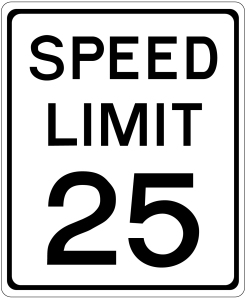 Speed Limit is now 25 in the Milton Point area of Rye.  Photo courtesy of: www.forestry-suppliers.com