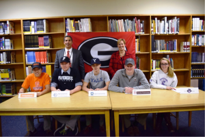 Front Row, Left to Right: Soya Goto, Patrick MacAulay, Tim DeGraw, Andrew Livingston, Allison Sullivan. Back Row, Left to Right: Director of Athletics Rob Castagna, Principal Patricia Taylor. Not pictured: Charlotte Tucci Photo courtesy of: Rye City School District